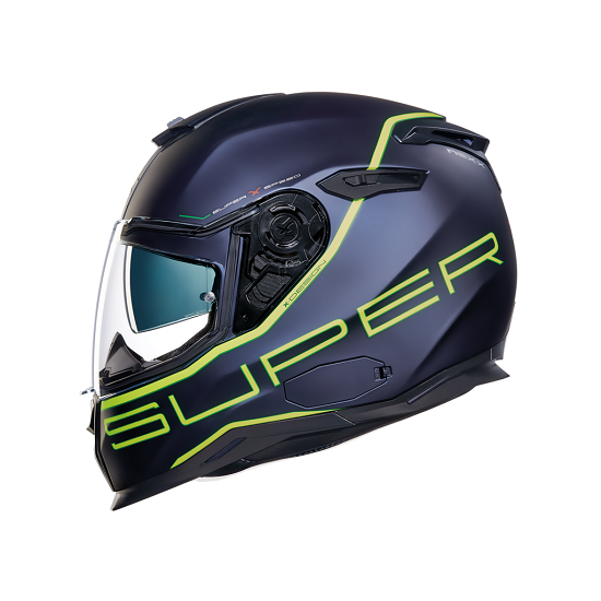 CASCO NEXX SX.100 SUPER SPEED NAVY AZUL NEON AMARILLO MATE