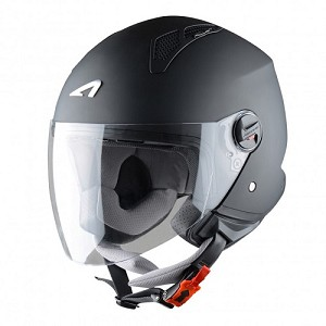 CASCO ASTONE MINI JET NEGRO MATE