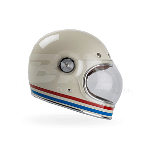 CASCO BELL BULLITT STRIPES BLANCO PERLA