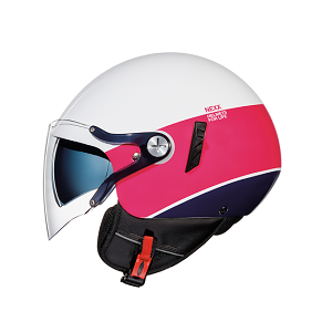 CASCO NEXX SX. 60 SMART 2 BLANCO ROSA