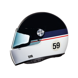 CASCO NEXX XG100 GARAGE RACER GRANDWIN NEGRO AZUL Y BLANCO